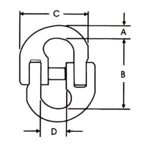 Conectro grado 100 cotas y dimensiones