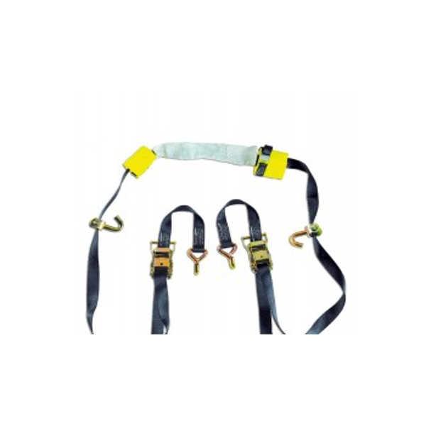 Conjunto de amarre para porta-motos reforzado