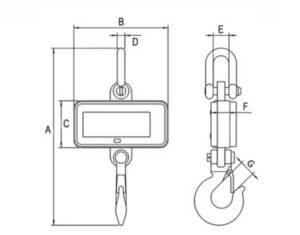 Ganchos pesadores medium configurables cotas y dimensiones
