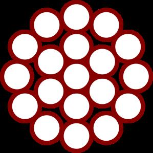 Cable de acero Composición de 1 x 19 + 0