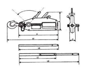 Tiradors de cable de cuerpo de acero MODELO TCH