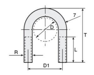 Cotas y dimensiones para abarcones para tubos