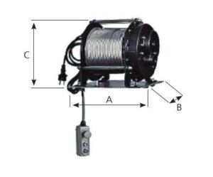 Cabestrante eléctrico Monofásico MODELO TE