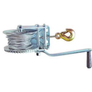 Cabestrante manual de cable con gancho