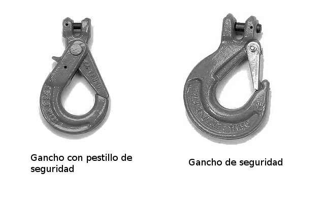 Ganchos de seguridad para eslingas