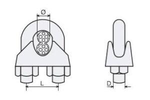 Cotas y dimensiones de los guardacabos
