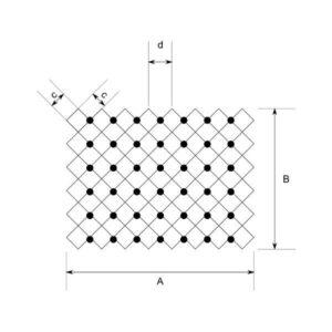 Cotas y dimensiones de las mallas para taludes