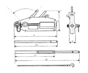 Tiradores de cable de cuerpo de aluminio dimensiones y cotas