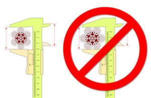 Cómo medir correctamente el diámetro de un cable de acero