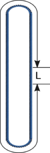 Eslinga de cable de acero sinfin