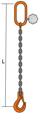Eslinga de cadena simple