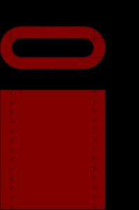 Esquema casquillos de cobre para cables de acero cotas y dimensiones