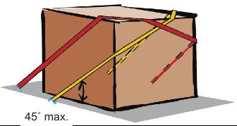 Esta disposición del amarre con resortes tiene dos tramos en cada lateral, que sujeta dos veces el peso que está indicado en el cuadro