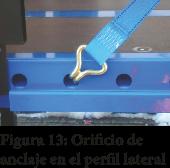 Figura 13: Orificio de anclaje en el perfil lateral