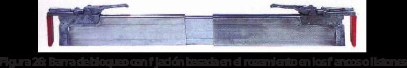 Figura 26: Barra de bloqueo con fijación basada en el rozamiento en los flancos o listones