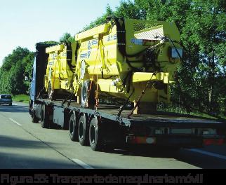Figura 55: Transporte de maquinaria móvil