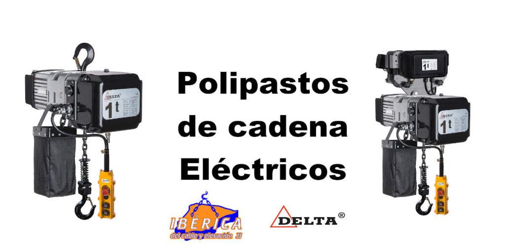 Polipastos eléctricos de cadena ibérica del cable y delta